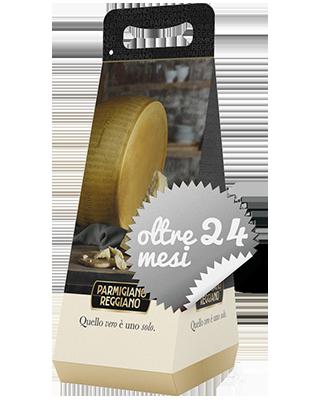 Parmigiano Reggiano oltre 24 Mesi - 822-FRM03-1002N - Pacco da due confezioni regalo di Parmigiano da circa 1kg l'una